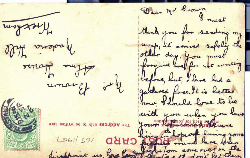 1907 Postcard